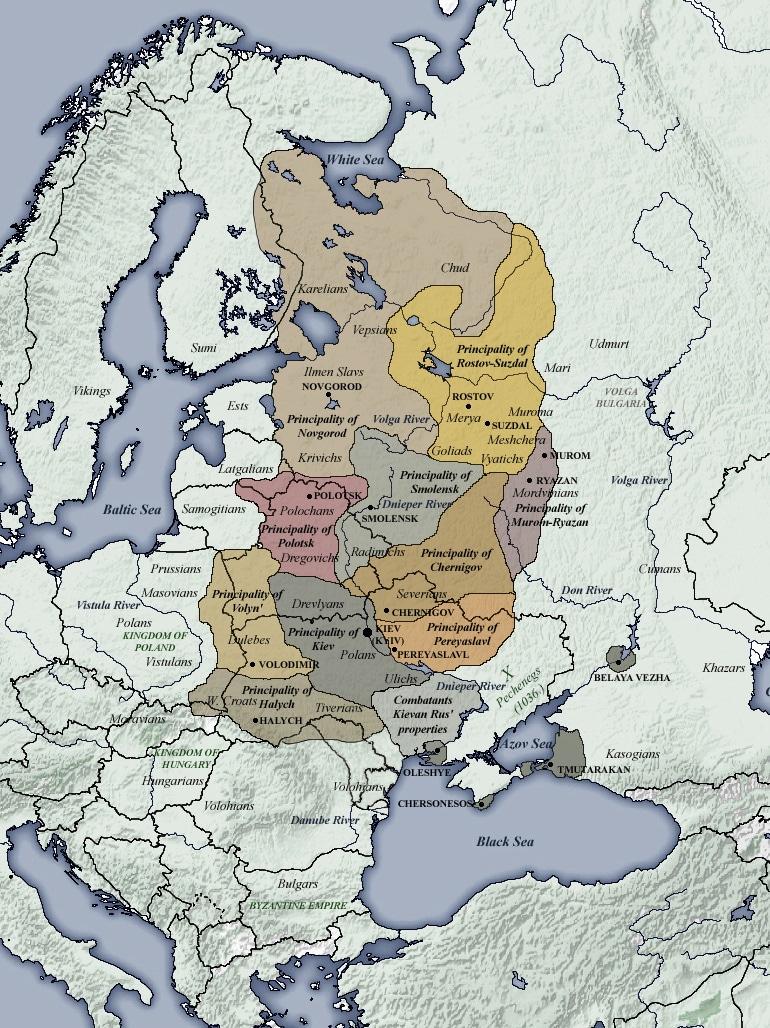 principautes-La Rus'-de-Kiev-Russie-Kievienne-(1054-1132)-conflit-ukrainien-contexte-historique